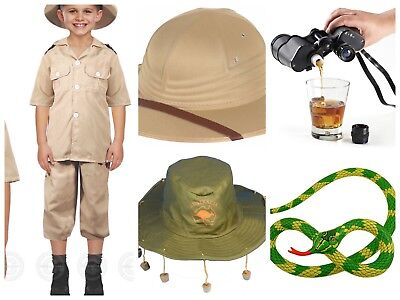 KIDS SAFARI ZOO STEVE IRWIN AUSTRALIA ZOO FANCY DRESS ACCESSORIES IN DROP MENU - Safari Costumes Australia