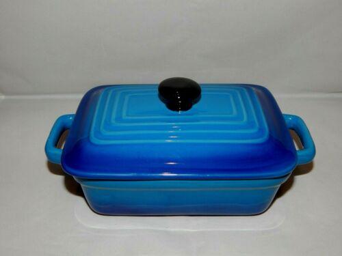 Housewares International Stoneware Small Baking Dish Baker Blue Ombre Enamel