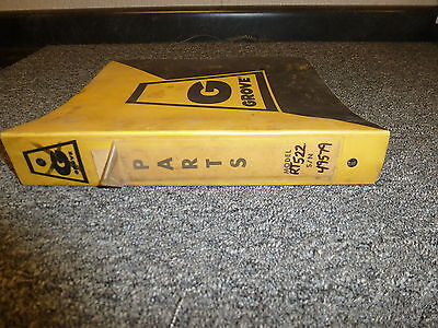 Grove Rt522 Rough Terrain Hydraulic Mobile Crane Parts Catalog Manual Book