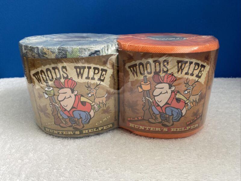 Rivers Edge Buck Schitz Camo & Blaze  2 Pack Woods Wipe Toilet Paper Gag Gift