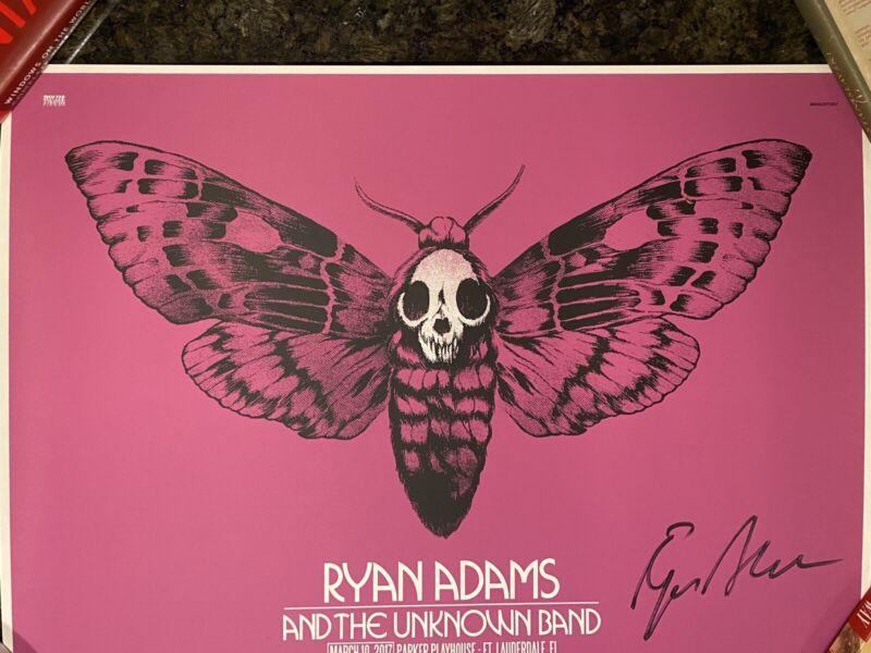 Ryan Adams Fort Lauderdale 2017 Signed Poster Shirt Bob Dylan Fleetwood Mac SOAD