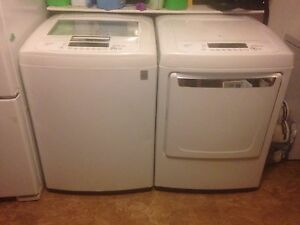 Lg washer top loader  and dryer