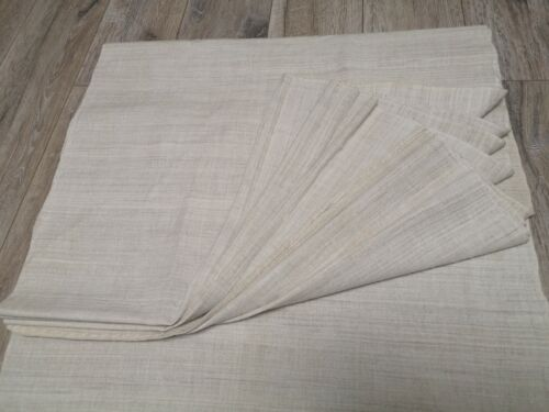 Antique  homespun fabric 6,7x0,62m mix hemp&cotton grey Great storage condition