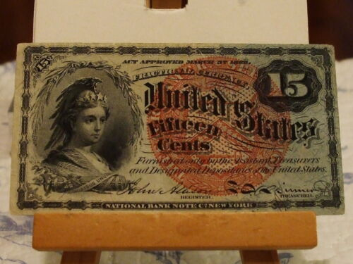 1863,15c UNITED STATES FRACTIONAL,GRADE AU, FR 1269,4TH ISSUE,GREAT EYE APPEAL
