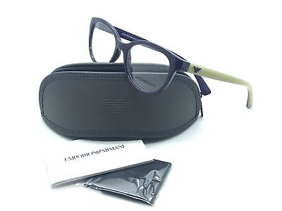 Emporio Armani Violet Eyeglasses EA 3104 5560 52 mm Designer  Demo Lenses