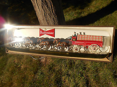 BUDWEISER 6-Foot World Champion Clydesdales horse Jumbo Beer Sign Rare From 1968