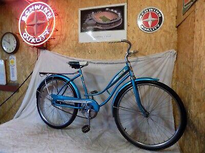 9c9efb670be 1950s COLUMBIA THUNDERBOLT LADIES TANK BICYCLE JC HIGGINS HUFFY! RACK HORN  1960s