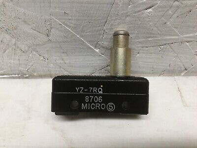 Micro Switch Yz-7rq Limit Switch Top Plunger 15a 125 250 Or 280 Vac