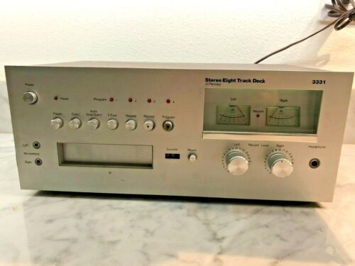 JCPENNEY 8-TRACK RARE STEREO EIGHT TRACK DECK MCS 3331