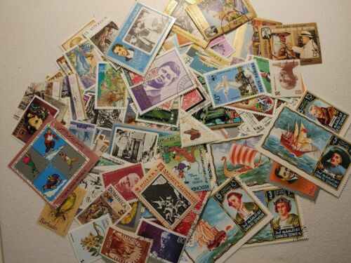 Foreign Worldwide Commemoratives Pictorials Stamps Lot 100+ Different Mint/Used