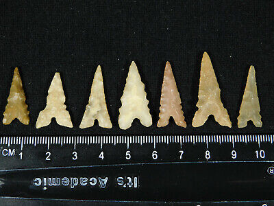 A Lot of SEVEN! Ancient AAA North African Tidikelt Arrowheads or Points! 1.94