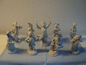 9 Porzellanfiguren Affenkapelle Thüringer Porzellan Scheibe Alsbach