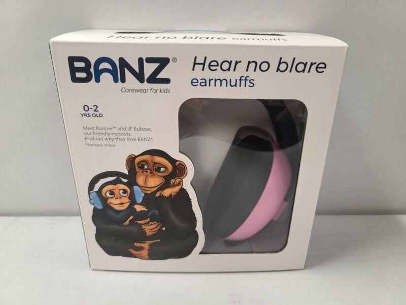 Banz Hear No Blare earmuffs 0-2 Years old Pink EM010 Carewear for kids