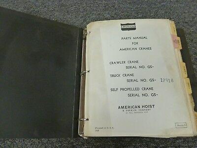 American Model 8450 Truck Mounted Lattice Boom Crane Parts Catalog Manual