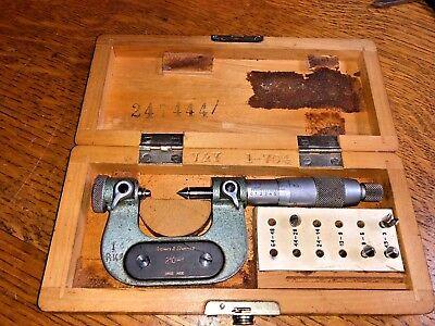 Brown Sharpe Tesa Pitch Thread Micrometer 0 - 1 210-1