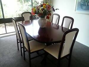 Mahogany dining table and 6 chairs in Charlestown Charlestown Lake Macquarie Area Preview