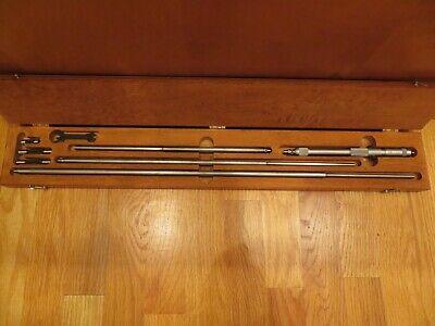 Starrett Inside Micrometer Set Model 124cz Range 8-32 Inch Machinist Tools