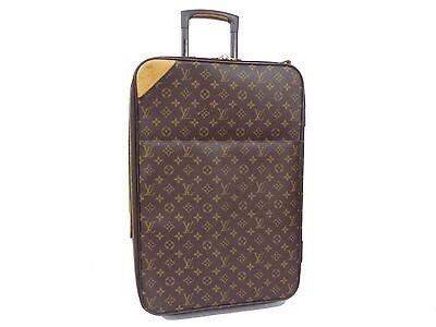 Auth LOUIS VUITTON Monogram Suitcase Carry Bag Luggage Travel bag Pegase 55 T264