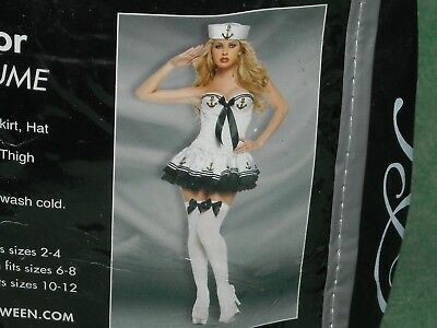 Halloween spirit Paris sailor adult costume quality garment M fits 6-8 79.99 (Spirit Halloween Sailor Costume)