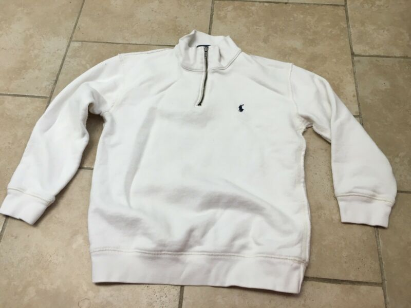 Ralph Lauren Polo White 1/4 Zip Pullover SweatShirt/sweater, Boys Size 6