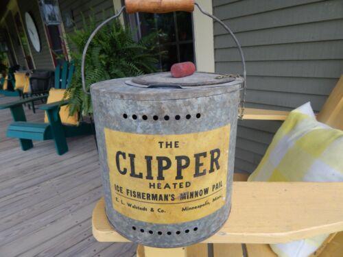 very unusual vintage CLIPPER ICE FISHERMAN