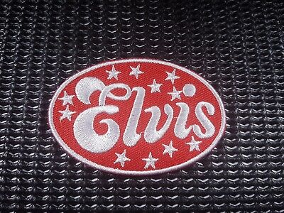 Quality Iron/Sew on Elvis Presley patch rock and roll the King Blue Suede Shoes
