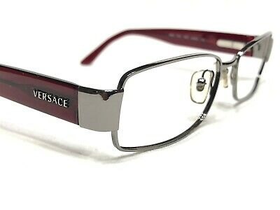 Versace Mod1124 1001 Unisex Burgundy Modern Rx Designer Eyeglasses Frames (Versace Designer Eyeglasses)