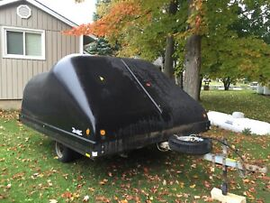 Hyland Double Wide Clamshell Snowmobile Trailer