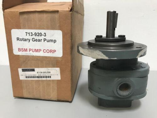 New BSM Pump 713-920-3 Rotary Gear Pump
