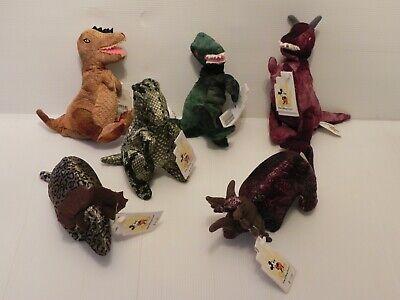Animal Bean Bag Set - Walt Disney World Animal Kingdom Dinosaurs Bean Bag Plush - Set of 6