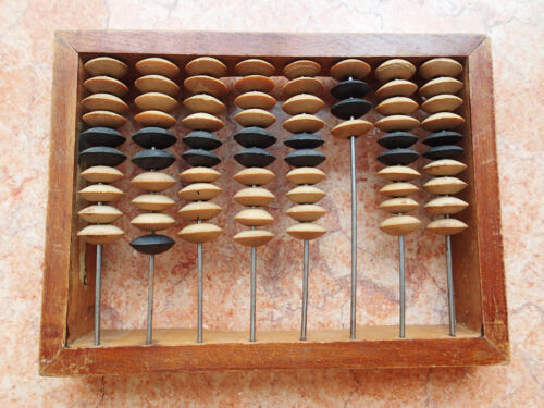 """!!! ORIGINAL USSR abacus counting frame OLD COMPUTER miniature 7*5"""" wooden"""
