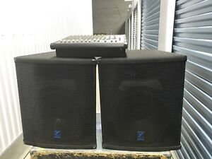 """Yorkville PA system - powered mixer and e404 -15"""" elite speakers"""