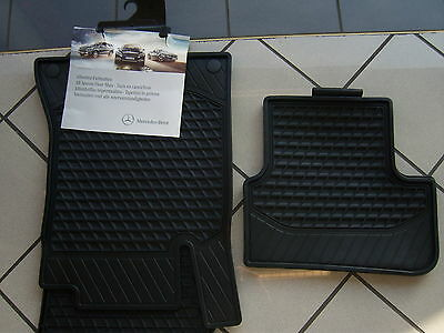Original Mercedes-Benz MB Gummimatten Allwettermatten Fußmatten W 205 C-Klasse