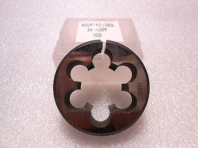 34-14 Bspf X 2 Od Round Adjustable High Speed Steel Die British Parallel New