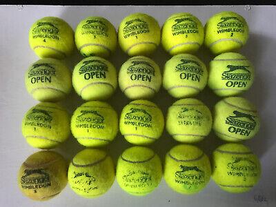 20 used tennis balls