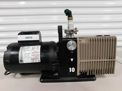 Veeco 2010 Rotary Vain Pump With Franklin 1101006418 Motor