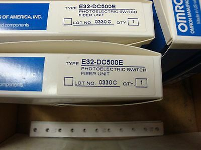 Omron Optical Fiber Sensor E32-dc500e E32dc500e New In Box