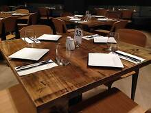 Cafe timber tables for sale Sydney solid timber factory direct Revesby Bankstown Area Preview