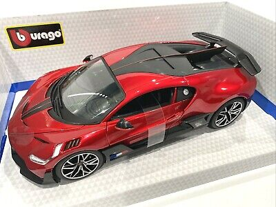 BBURAGO 1:18 BUGATTI DIVO MET RED DIECAST MODEL CAR 18-11045MRTD