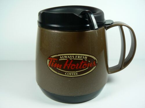 Plastic Tim Hortons Aladdin 16 oz Insulated Travel Mug with Lid Brown Non Slip