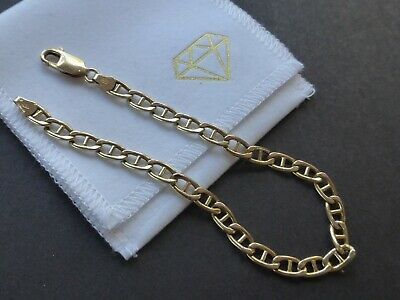 """Italian 9ct Gold Fancy Link Chain Bracelet with Lobster Clasp - 7 1/2"""" in Length"""