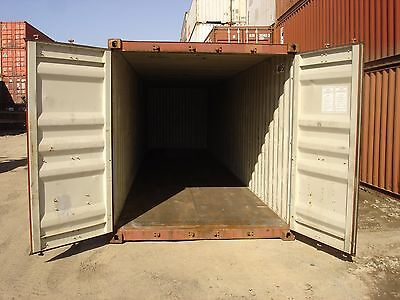 Used 40 High Cube Steel Storage Container Shipping Cargo Conex Seabox Dallas