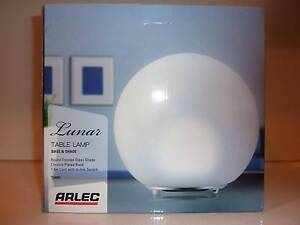 Aarlec Lunar Glass Table Lamp Compact Fluorescent Bulb Included Footscray Maribyrnong Area Preview