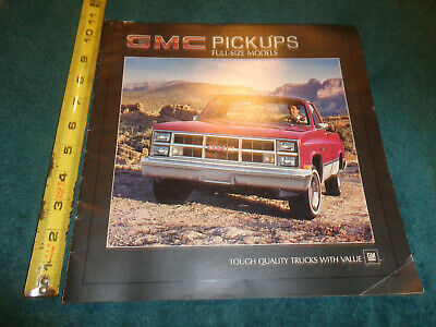 1984 GMC PICKUP TRUCK SALES BROCHURE / CATALOG ORIGINAL DEALERSHIP ITEM!