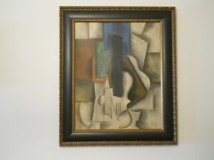 A Wonderful Original Cubist Painting in Style of Picasso