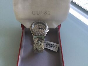 Brand New Guess Watch  with tags -Silver Snakeskin Leather Band Woolooware Sutherland Area Preview