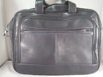 PM4 Samsonite 923800 Leather Laptop Bag Heritage Industries Business Bag Attache
