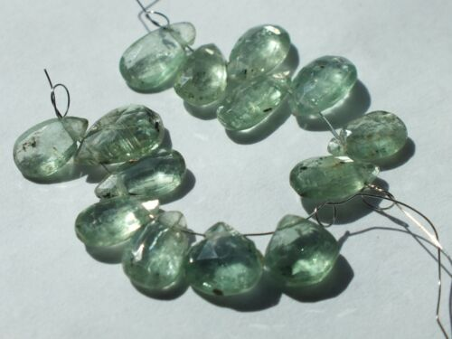 Awesome  Color Rare Faceted Green Kyanite Pear shaped Beads