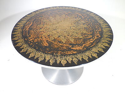 Vintage Danish Original 60's Mygge Enameled Pedestal Dining Table France & Son