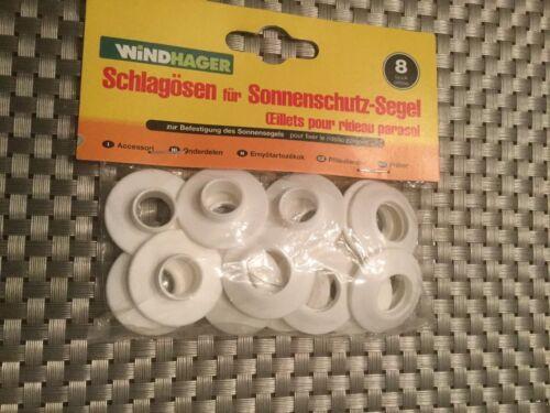 8 Stk. Schlägösen für Sonnenschutz Segel / Windhager Sonnensegel Zubehör